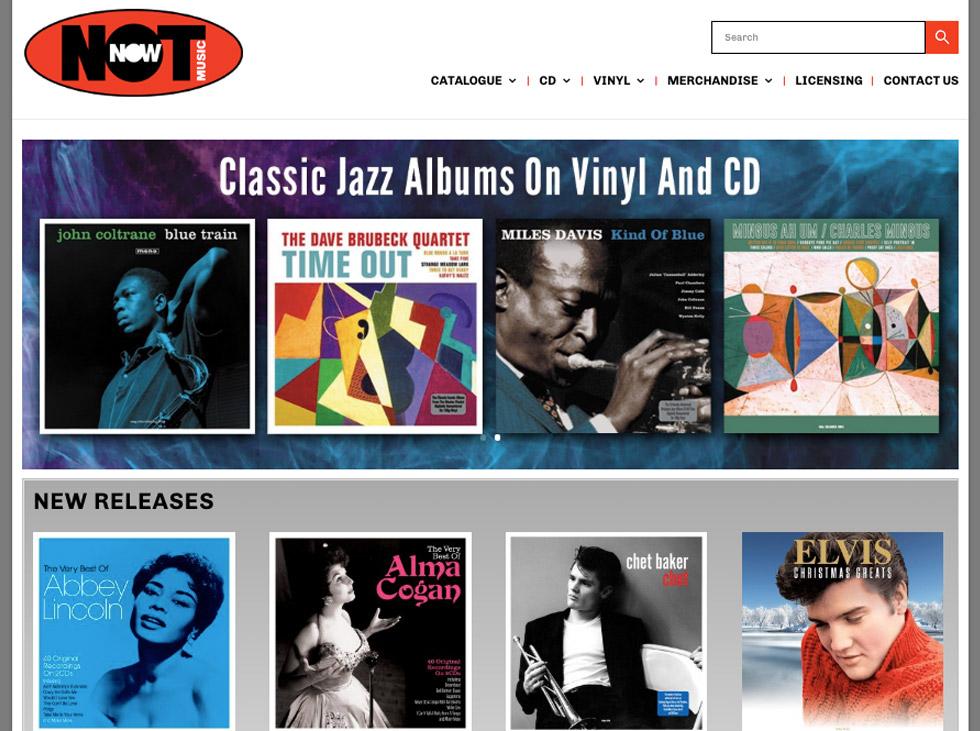 music label web design