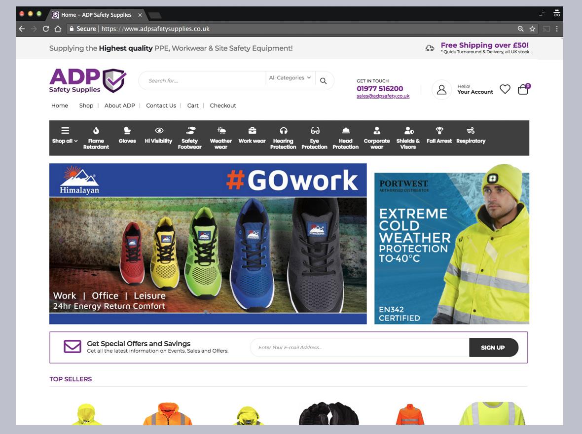 Safety Supplies web design